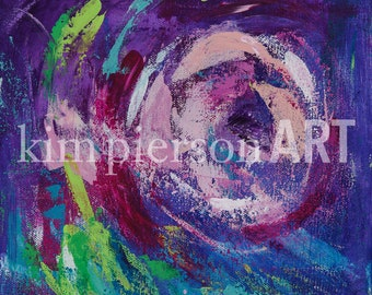 10x10 Abstract Acrylic Painting on Canvas Wall Art
