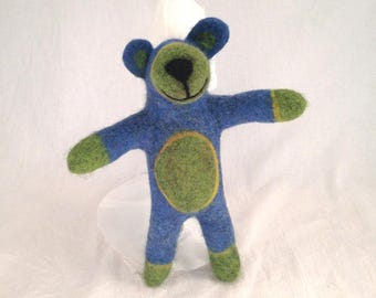 Felted Blue Bear