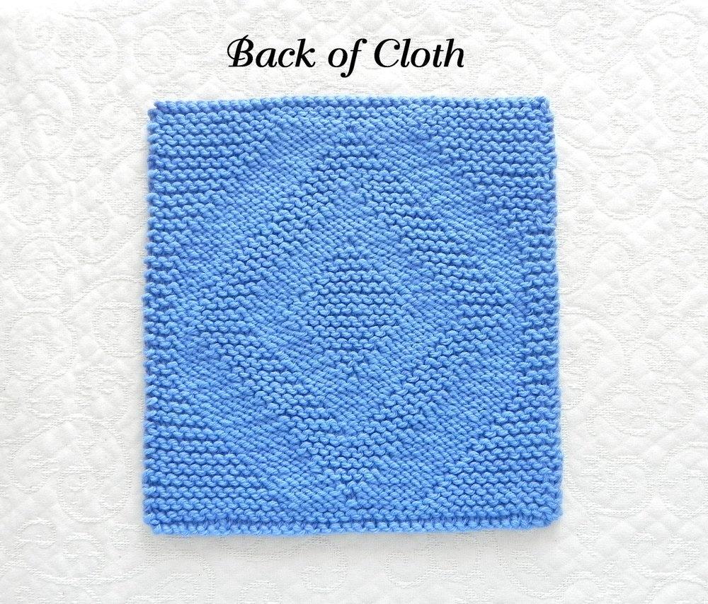 Geometrical DIAMOND Quilt Block Knit Dishcloth Pattern or Wash Cloth ...