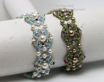 PDF Tutorial - Merla Bracelet Beadweaving Instruction Beading Pattern Instant download