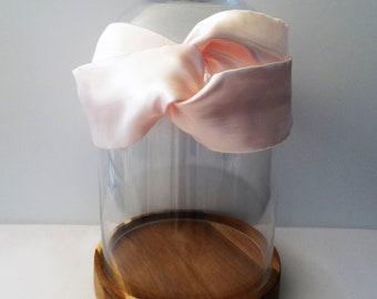 Satin pink woman twist headband