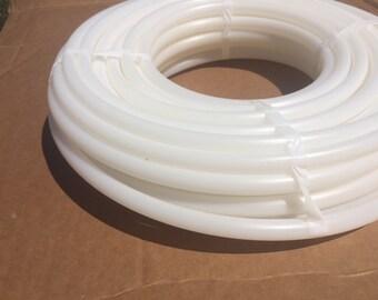 "5/8"" OD Natural HDPE - 10ft coil - Hula Hoop Tubing Supplies - High Density Polyethylene white diy"