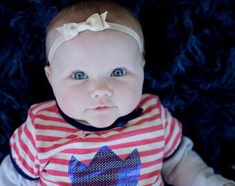 Ivory Bow Headband / Ivory Baby Headband / Easter Headband / Baby Girls Hair Accessories / Newborn Headband / Ivory Bow / Baby Headband