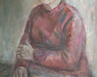 1981 Oil Painting Female Portrait, Signed