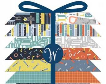 Tool Time Fat Quarter Bundle, 21 Pieces, Whistler Studios, Windham Fabric, Precut Fabric, Quilt Fabric, Cotton Fabric, Tool Fabric