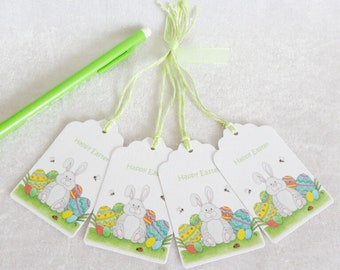 Easter Bunny Gift Tags - set of 4 tags