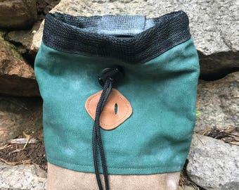 Chalk Bag - Green Canvas