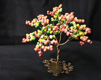 Autumn Tree (wire and beads)
