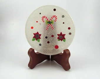 Christmas Time Handmade Resin Coaster FI0246