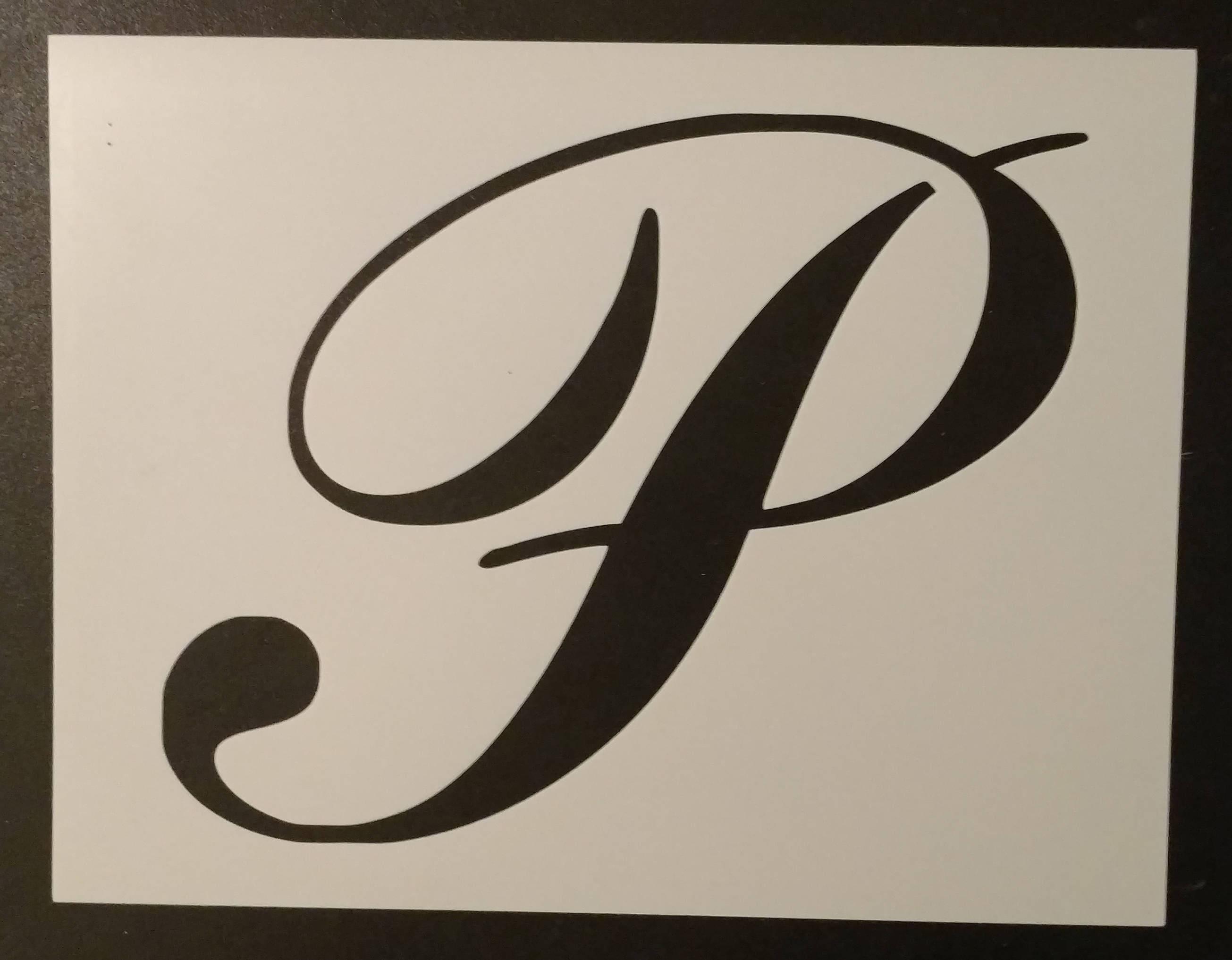Script Letter P