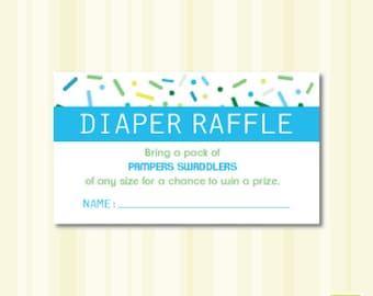 Baby Shower Sprinkle PAMPERS Diaper Raffle Instant Download Printable