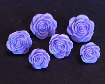 Purple Resin Flower Earrings perfect for Mother's Day and spring attire