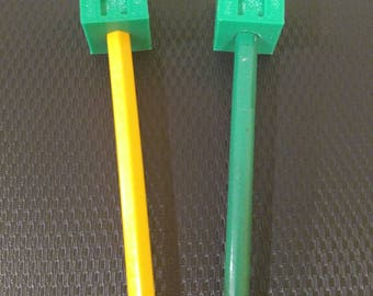 3d Printed MineCraft Creeper Pencil Topper 3 Pack