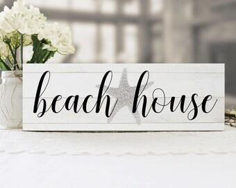 Beach House Sign, Beach Sign, Beach House Decor, Cottage Chic Beach Decor, Beach House Wall Sign