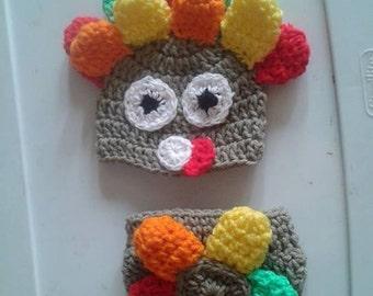 crochet turkey baby costume