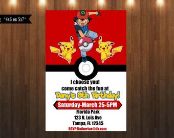 Pokémon Invitation|Digital Design File Only|4x6 or 5x7