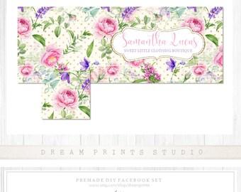 Premade DIY Facebook Set | Facebook Kit | Premade Facebook Set | Shop Graphics | Facebook Business Set | Graphics | INSTANT DOWNLOAD