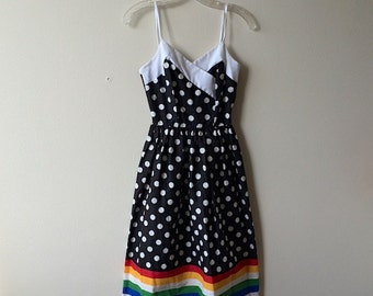 Vintage Polka Dot & Rainbow Dress