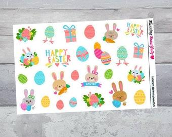 easter stickers, easter planner stickers, easter clipart, erin condren planner stickers, happy planner stickers, easter decor, stickers
