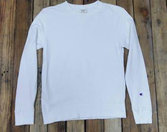 Vintage CHAMPION Jumper Women Sweatshirts Medium 90's Champion Apparel Usa Sportswear Champion Crewneck White Sweaters Pullover Size M