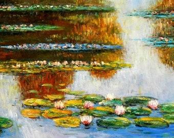 Claude Monet-Water lilies in light f94926 60 x 120 cm exquisite image