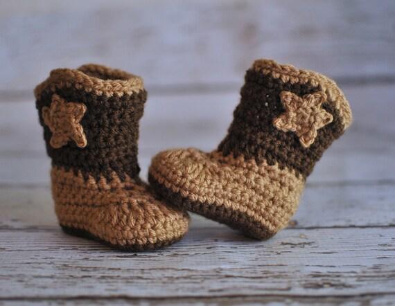Baby Cowboy Boots Crochet Baby Booties Boy Booties Girl