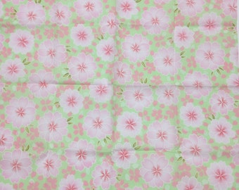 Furoshiki, FREE SHIPPING, green furoshiki, wrapping cloth, Japanese fabric, japanese tapestry, Sakura Wall Hanging, furoshiki gift