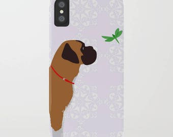 Chien Boxer sur housse de portable - Samsung Galaxy S7, iPhone 6 s, cadeaux pour les amoureux des animaux, cadeaux de Boxer, chien d'idées cadeau, iPhone 8
