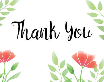 Thank You - note card cover