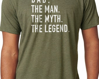 Dad The Man The Myth The Legend Husband Shirt Shirt for Dad Father Day Gift Dad Gift Funny T shirts