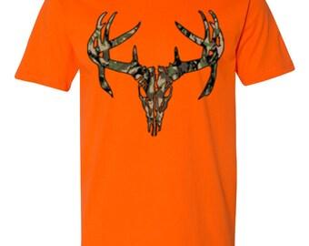 Deer Skull Camo-Safety Orange