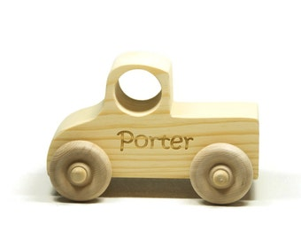 Wooden Toy, Wood Toy Truck, Toddler Toy Wood Truck Personalized for Children and Toddlers