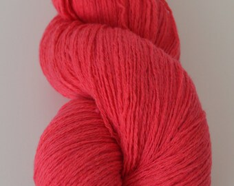 Wool Cashmere Blend Reclaimed Yarn - Deep Pink