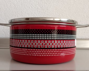 Enormous vintage Siltal Italian pan collectable houndstooth design Carla Agnelli-now reduced!