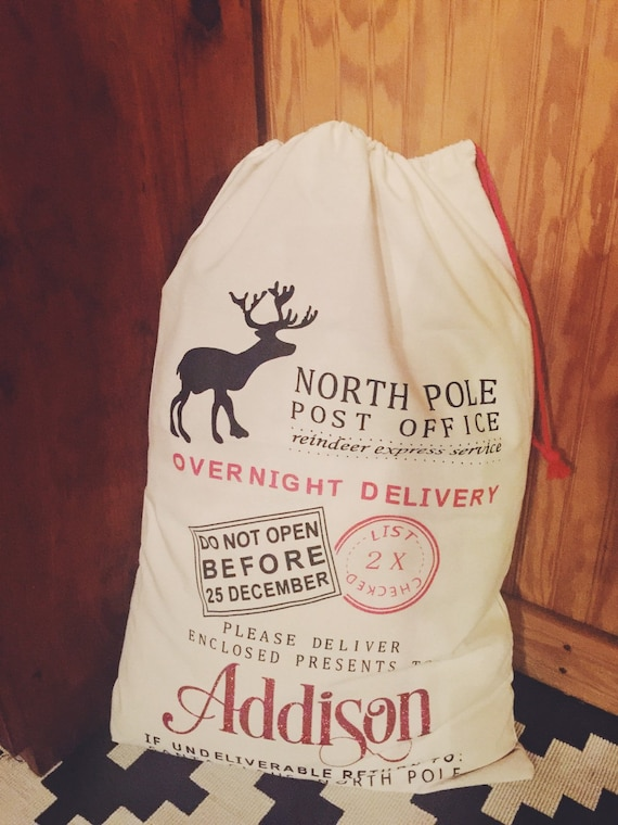 Personalized Santa Sacks - Made day of order