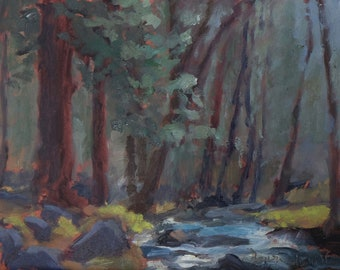 Ruidoso River - Ruidoso, New Mexico - Original Oil Landscape Painting