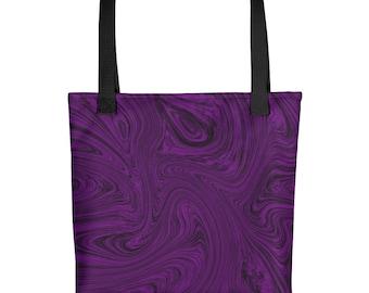 Fluid Purple Tote bag   purse, bag, summer, beach bag, fluid art