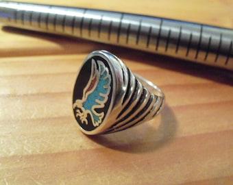 Eagle Ring Inlayed