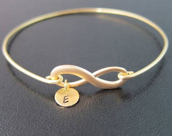 Infinity Bracelet, Wedding Gifts for Bridesmaid, Monogram Bridesmaid Gift, Personalized Gift, Infinity Knot Bracelet, Unique Bridesmaid Gift