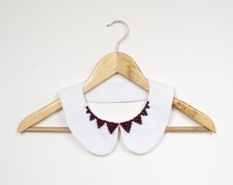 Peter Pan Detachable White Collar. Minimalist Accessories. Detachable Necklace Collar
