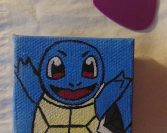 Squirtle Magnet, Pokemon, Handmade Magnet, 2x2, Blue, Water, Water Type, Custom, Gen 1, Starter Pokemon, Refrigerator, Locker, Kitchen