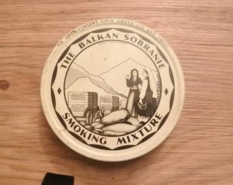 Vintage The Balkan Sobranie Smoking Mixture  Pipe Tobacco Tin