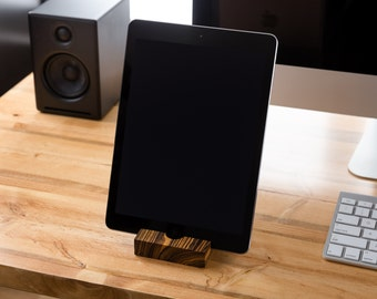 iPad Stand/ Walnut/ Tablet Stand/ iPad/ iPad Station/ tech gift / gifts for him