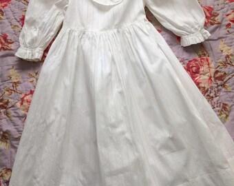 Vintage Girls Victorian White Dress Late 19th century