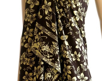 Brown Flower Sarong, Pareo