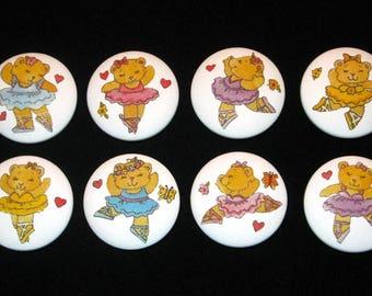 8 - BALLERINA BEARS - Drawer Knobs