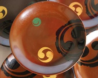 """Vintage Laquerware Rare Brown Colour """"Urushi"""""""