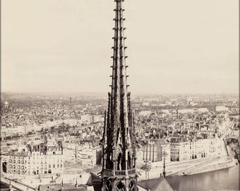 Poster, Many Sizes Available; Notre Dame, Paris, France 1859