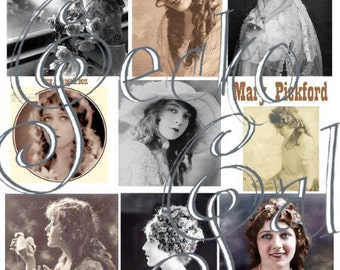 Mary Pickford Digital Collage Sheet