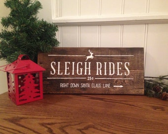 Christmas Pallet Sign - Sleigh Rides